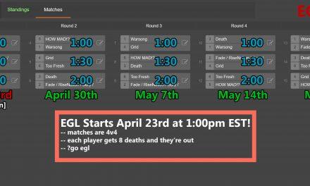 EGL 2016 Schedule
